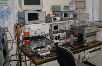 RF test equipment bench